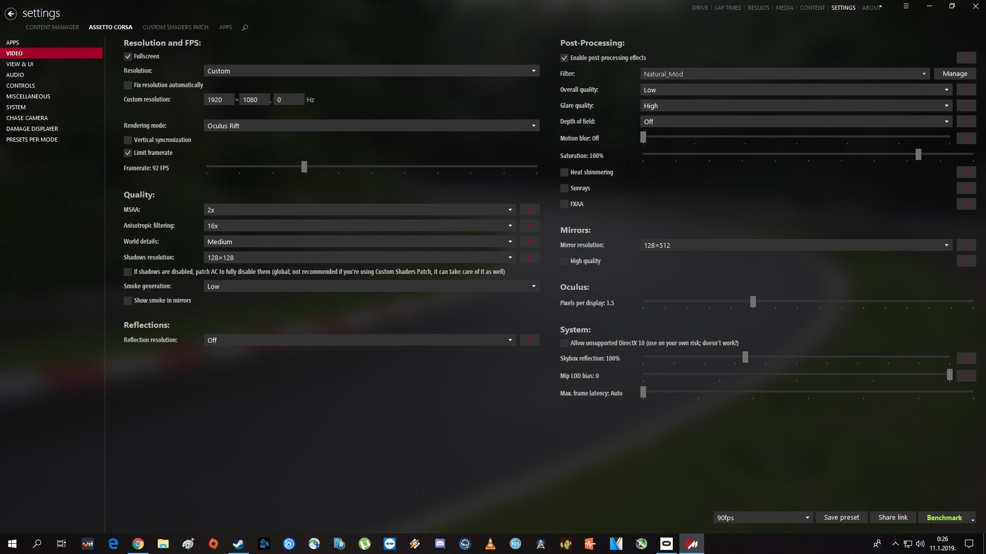 Assetto Corsa Graphics settings for VR   RevolutionSimRacing